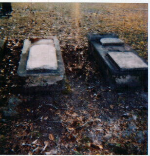 The Headstones of Isaac and Louisa Champenois
