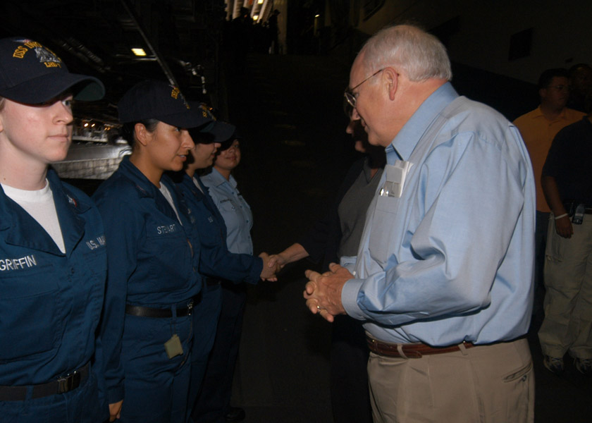 PO2 Jennifer Stewart meeting Vice President Cheney